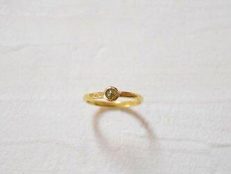 ナチュラルダイヤモンドのK18リングGGの画像