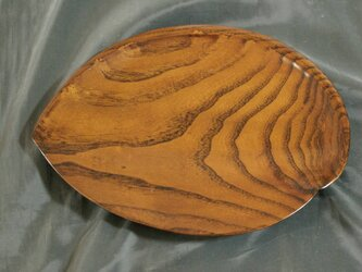 桑拭漆木皿(くわふきうるしのきざら)  IM226の画像