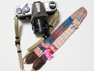 <在庫あり>ヤーンのカメラストラップ#12の画像