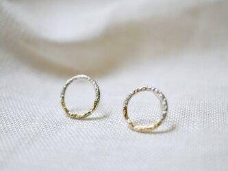 ミルキーウェイサークルピアス ( Milky way circle earrings )の画像