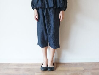 Linen washers Wide pants NAVY kids 3(120cm~),4(140cm~)sizeの画像