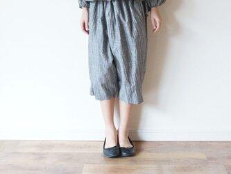Linen washers Wide pants GRAY kids 3(120cm~),4(140cm~)sizeの画像