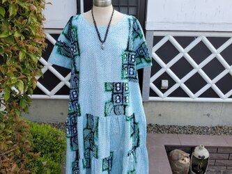着物リメイク 手作り かわいい色柄 浴衣 有松絞り ワンピースの画像