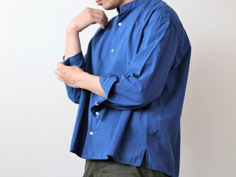 【 Men's 】ひなたシャツスタンド /染め BLUEの画像
