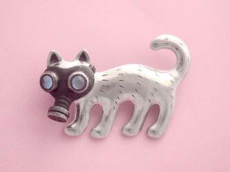 パンデミック猫 ブローチの画像