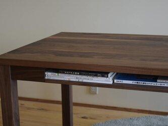 クルミ(ウォールナット) 棚付きダイニングテーブル W180の画像