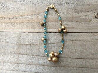 *ワケあってhappy price*suzu*ブレス@+インドのオールドビーズ+真鍮のつぶつぶ+THAIのジャンクな鈴の画像