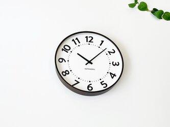 KATOMOKU plywood clock 16 km-106BRRC ブラウン 電波時計 連続秒針 大きい時計の画像
