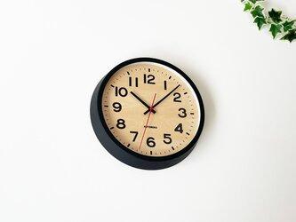 KATOMOKU muku clock 15 ブラック km-107BLRC シナ文字盤 電波時計 掛け時計 連続秒針の画像