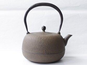 江戸鉄瓶 平形鋳肌(えどてつびんひらがたいはだ)の画像