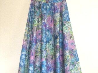 マリーナシーフラワー (ブルー)  サキュラースカートの画像