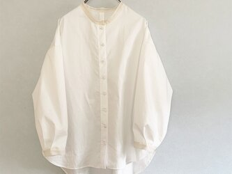 透けpointのあるコットンワッシャーシャツ[off-white]の画像