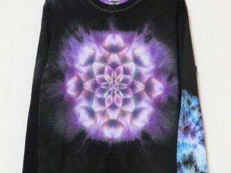 タイダイ 絞り染め 曼荼羅 長袖Tシャツ♪Lサイズ HD11-46の画像