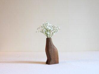 木の猫足花瓶【チーク】の画像