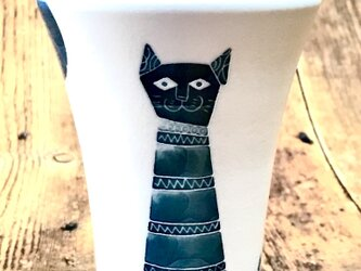 モダン猫柄のロンググラス♪の画像