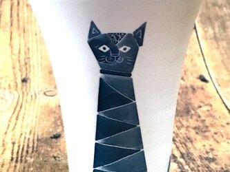 モダン猫のロンググラスB♬の画像