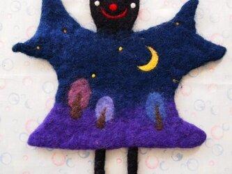 Pot Mat 夜空のコウモリの画像