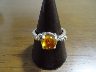 アンバー(琥珀)のリングの画像