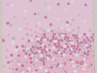 風呂敷 ふろしき 弁当箱包み 手作りマスク 宇野千代 江戸ざくら 綿100% 50cm幅 ピンク色 春贈答品の画像