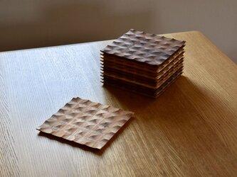 廃材木を使ったトースト皿 『オニグルミ鉄媒染仕様』 の画像