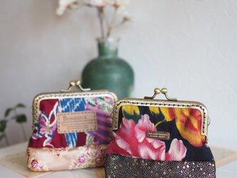 ♥台湾花布♥ 10cmショコラガマ口100%手縫ポーチ【受注製作】 の画像
