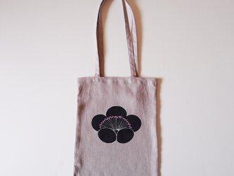 手提げバッグ くすみピンク 香り梅の画像