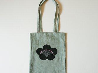 手提げバッグ うぐいす色 香り梅の画像