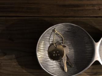 真鍮のキーリング (刻印も可能)の画像