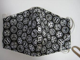 和柄小紋手ぬぐいから手作り立体3重マスクの画像