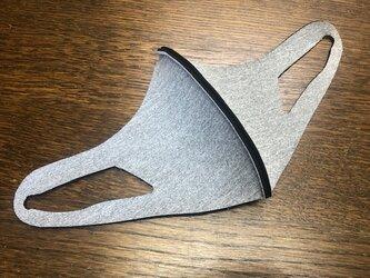 立体マスク 水洗いできるウエットスーツ素材の立体マスク 厚み2mm 繰り返し使える 洗えるマスク Lサイズ グレー系の画像