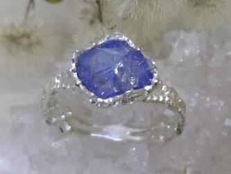 タンザナイトrough*925 lace ringの画像