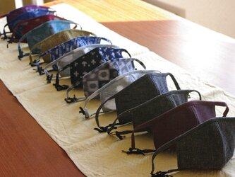ペコ様オーダー品 久留米絣のマスク2枚セットの画像