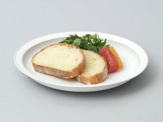 リムプレート・パスタ皿・カレー皿 24cm(パール/白)の画像