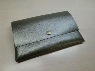 A6、お薬手帳、母子手帳対応・ピッグスキン・一枚革のマルチケース・カードポケット付き・0209の画像