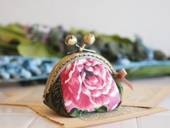 ♥台湾花布♥ コロンとして可愛い8.5cmガマ口100%手縫小銭入れ【受注製作】 の画像