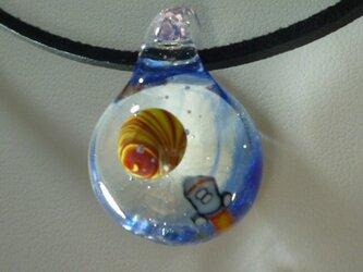 ロケット、惑星探査NO.2(ガラス、星、宇宙、ペンダント)の画像