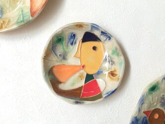 明るく、楽しく、美味しく! KUUーNERUーASOBU 丸小皿2の画像