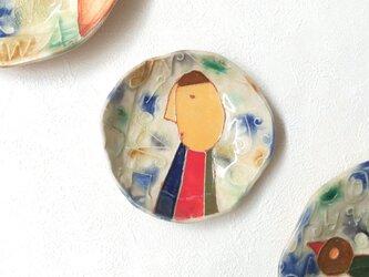 明るく、楽しく、美味しく! KUUーNERUーASOBU 丸小皿3の画像