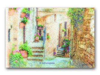 「心を澄まして」 ほっこり癒しのイラストポストカード2枚組 No.1035の画像