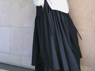 レイヤーティアードスカート クロ 受注製作の画像