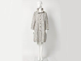 【希 NOZOMI】着物(きもの)リメイク コート フリーサイズ 1点物 正絹の画像