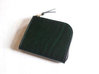 【一点物即納品】L字ファスナー小さい財布 ~ルガトーショルダー×栃木サドルレザー~の画像