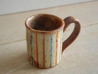 百色(ももいろ)象嵌 デミタスカップ 麦わら水色の画像