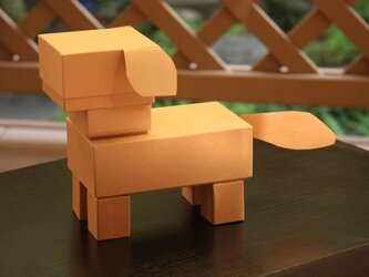 ワークキット〜箱で作る動物・犬〜の画像