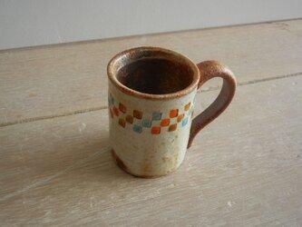 百色(ももいろ)象嵌 デミタスカップ 市松水色の画像