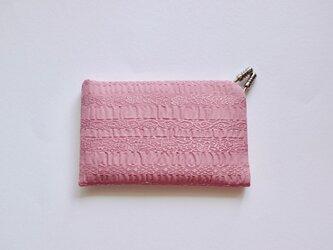 【ギフトに】フィルタンゴ カードケース ラベンダーピンク 西洋更紗柄の画像