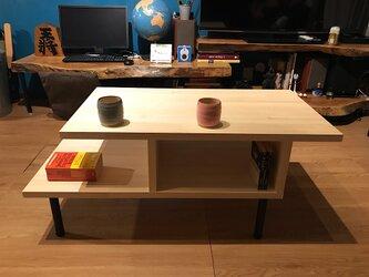 〓栄町工房〓 集成材テーブル 固定脚式C型 / 送料込み 脚はご自身でお取付けの画像