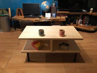 〓栄町工房〓 集成材テーブル 固定脚式E型 / 送料込み 脚はご自身でお取付けの画像