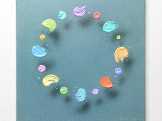 浮遊する筆触 【Layer 20056】 S6号 41 x 41cmの画像