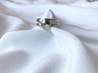 Silver950 銀の塊のフリーサイズリングの画像